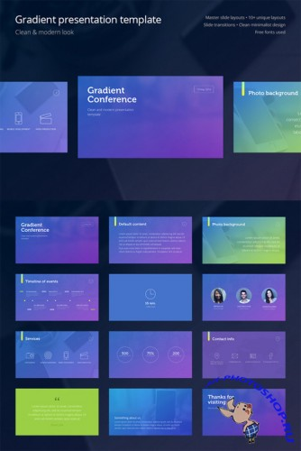 CreativeMarket - Gradient Presentation Template