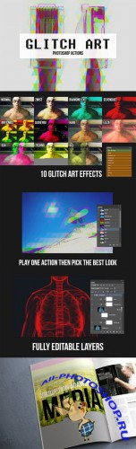 CreativeMarket - 10 Glitch Art Photoshop Actions