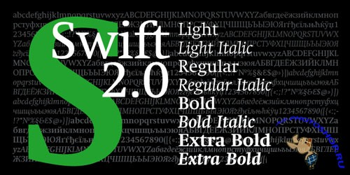 Swift 2.0 Cyrillic Font Family