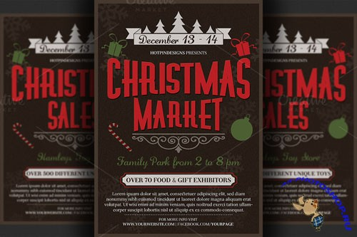 CreativeMarket - Christmas Event Flyer Poster