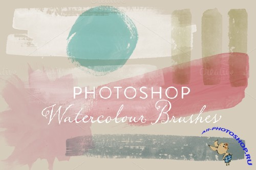 Watercolour Photoshop Brushes - CreativeMarket