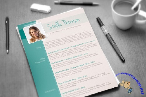 Fancy CV Template - CreativeMarket