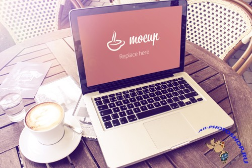 Macbook Mockup Terrace PSD Template