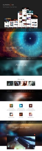 Supernova - PSD Template - CreativeMarket
