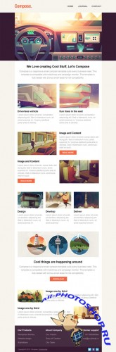 Compose - Responsive Email Template - CreativeMarket