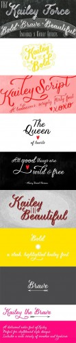 Kailey Force & Kailey Font Family