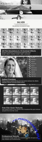 CreativeMarket - Silver - 28 Real B&W Film Emulations