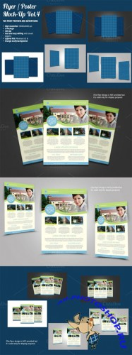 CreativeMarket - Flyer / Poster Mock-Ups Vol. 4