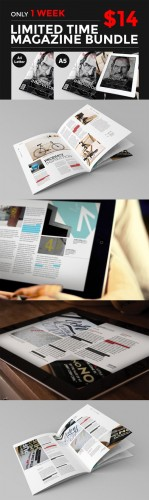 CreativeMarket - InDesign Magazine Bundle