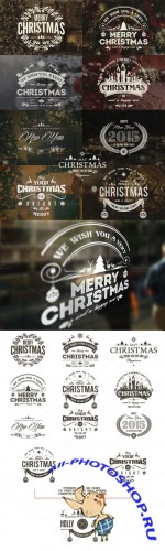CreativeMarket - Christmas & New Year Badges & Labels
