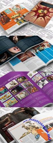 CreativeMarket - InDesign Magazine Template 16187