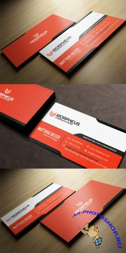 CreativeMarket - Orange Business Card