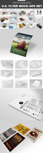 CreativeMarket - 14 Photo Realistic Flyer Mock-Up Set