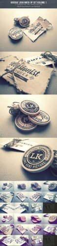 CreativeMarket - Vintage Logo Mock Up Set Volume 1