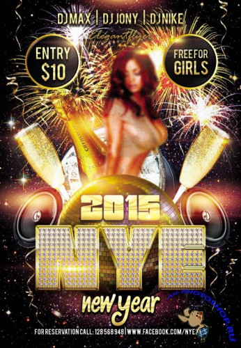 New Year 2015 - Party Flyer Template