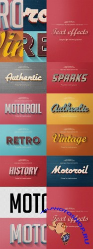 Retro Vintage Text Effects - CreativeMarket