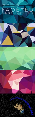 CreativeMarket - 25 Faceted Backgrounds 27307