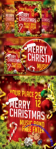 CreativeMarket - Merry Christmas Flyer