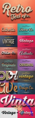 CreativeMarket - Vintage Text Effects Vol.2