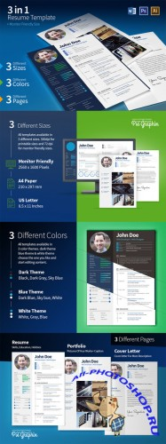 3 in 1 Resume Set (+ Screen Size) - CreativeMarket
