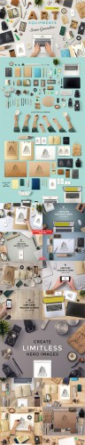 Art Equipments Scene Generator V2 - CreativeMarket
