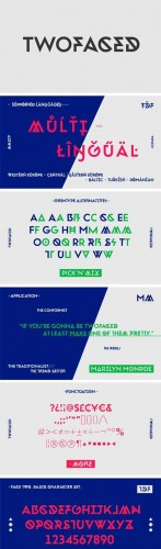Twofaced Font Family