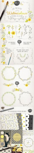 Creativemarket 98052 - Watercolor wedding collection vol 2