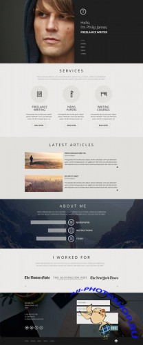 CreativeMarket - Portfolio one page design 81334