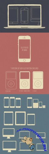 Creativemarket - 16 Apple Devices - Hand Illustrated 30291