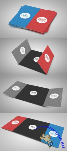 3 Fold Square Brochure Mock up PSD