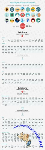 Boldicons - 1000 outline icons