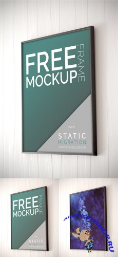 Frame on Wall Mock-Up PSD Template
