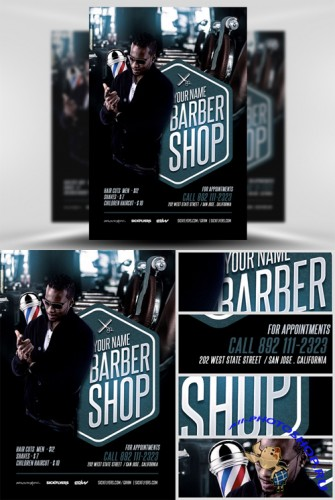 Barbers Shop Flyer Template