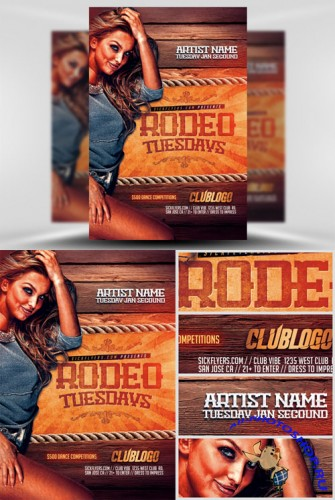 Rodeo Tuesdays Flyer Template