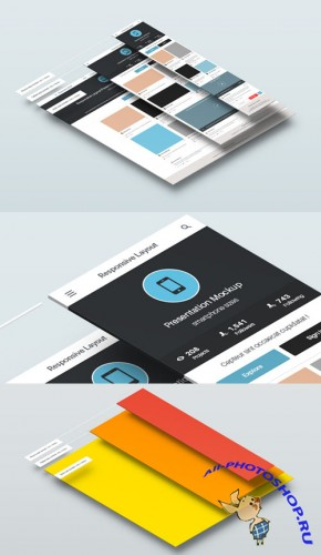 Perspective Responsive Screens PSD Template