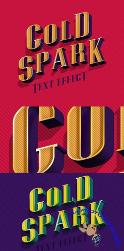 Gold Spark PSD Text Effect