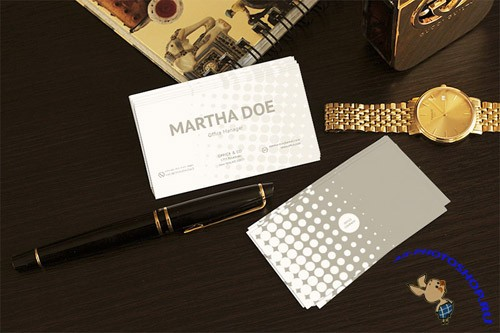 Business Cards Mock-Up PSD Template
