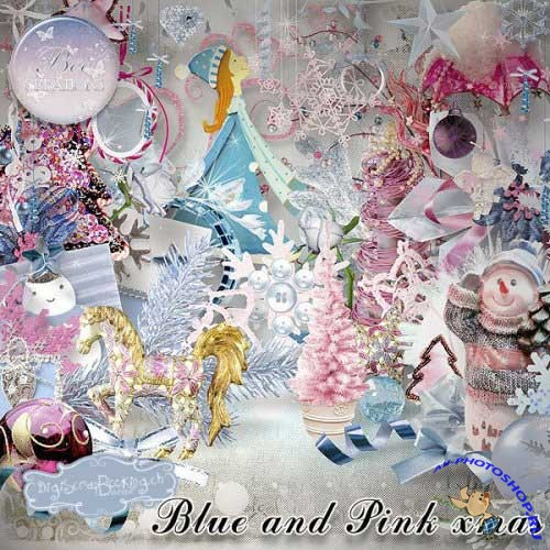 �������������� �����-����� - Blue And Pink Xmas