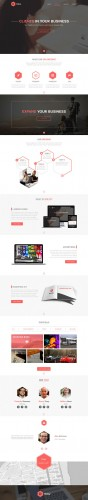 One Page PSD Website Theme