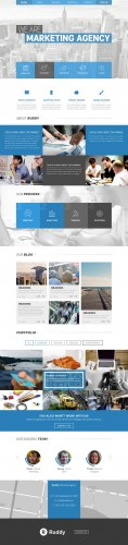 Ruddy Marketing Agency - Clean One Page PSD Website Theme