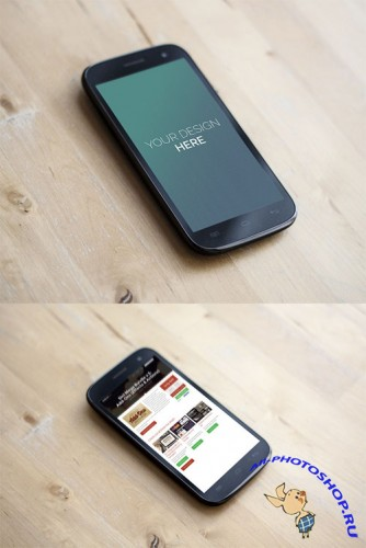 2 Android Phone Mock-Up PSD Templates