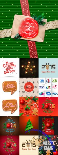 Vector Christmas Elements Set 1