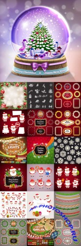 Vector Christmas Elements Set 2