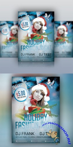 Holiday Fashion - Party Flyer Template