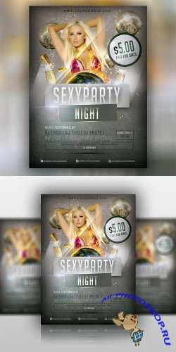 Sexy Party Flyer Template PSD