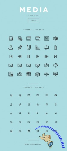 Media Icon Set Vol7