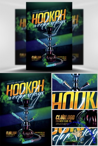 Hookah Wednesdays Flyer Template