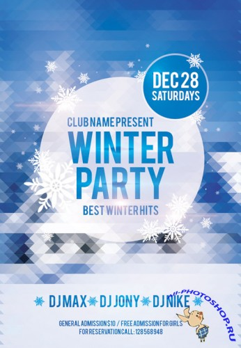 Winter Party - Flyer PSD