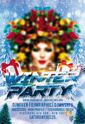Winter Party 2 - Flyer PSD
