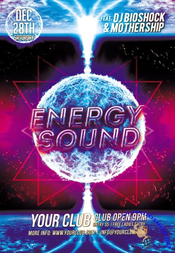 Flyer PSD Template - Energy Sound